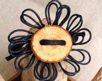 Black flower bracelet - Black flower bracelet