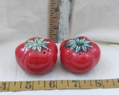 Beautiful Cherry Red Tomato Salt and Pepper Shakers