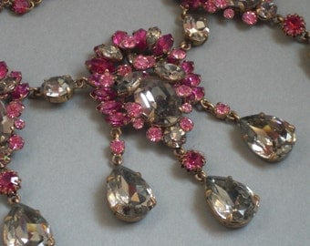 Necklace (112) plastron tricolor Crystal to 1950