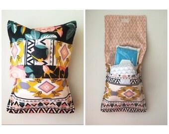Aztec/Floral print diaper pouch