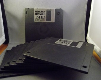Memorex 3.5in. Floppy Diskettes, 11 pc. unused without packaging,  1.44MB