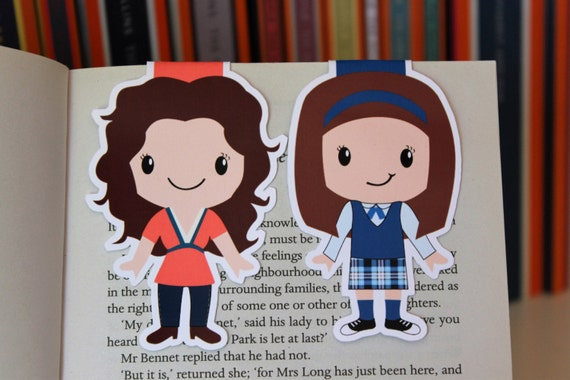 Lorelai and Rory Bookmarks | Gilmore Girls Gift Guide