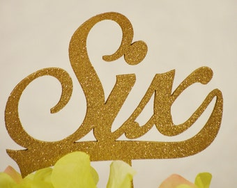 Gold Glittered Wedding Table Numbers - Wedding Numbers - Gold Numbers - Wedding Table Numbers