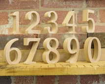 "10cm/4"" Table Numbers wooden free standing for DIY craft for weddings celebrations parties events"