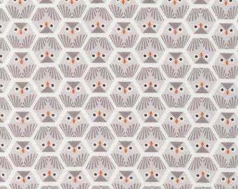 Grey owl baby/toddler blanket
