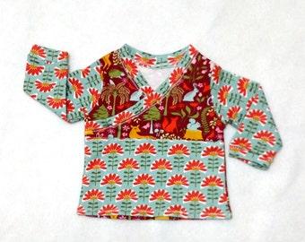 SALE - Longshirt Girl/multicolor/Size 3-6 month/woodfriends