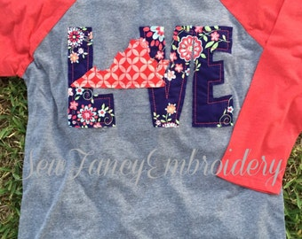 Love Virginia shirt, Love Shirt, Home shirt, Virginia, Virginia home shirt, state shirt, WV shirt