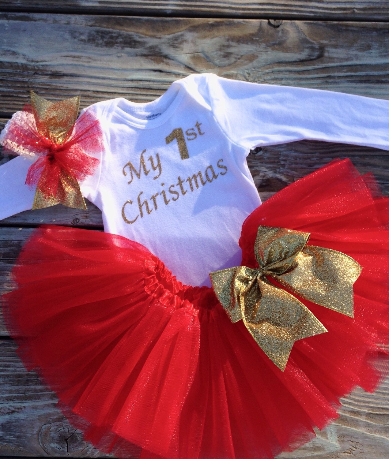 first christmas outfit newborn girl