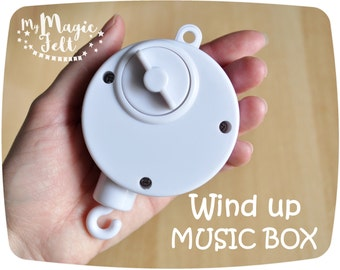 Mobile music box Rotary music box Wind-up music for baby mobile Brahms lullaby Mobile add ons Rotary crib music