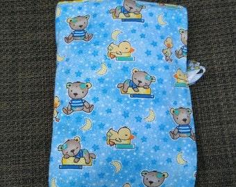 Portable/Mini Diaper Bag Blue Ducks and Bear themed