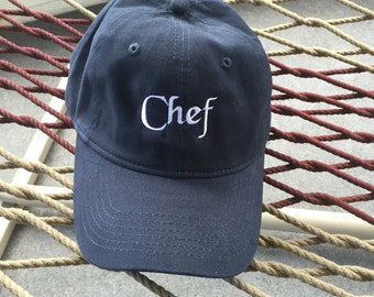Chef Hat - Navy Blue With White Letters