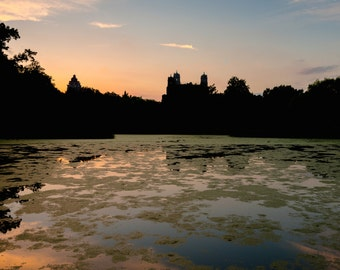 New York City Photography, Turtle Pond at Sunset, Central Park Photo, NYC Photography, Pearlescent Print, Fine art photography