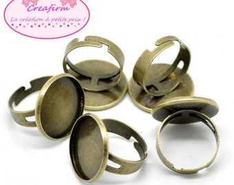 10 Bronze plate 20mm rings