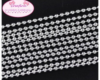 10 m 2.4 mm silver ball chain