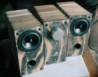 SALE: Reference Sound System > Integrated Amplifier > Speakers > Reclaimed Repurposed > Distressed Wood > Artisan Crafted - California, USA