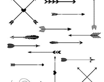 Items similar to Tribal Arrows Clipart, arrow printables, arrow ...