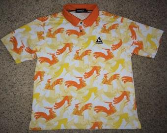 Sale!! Vintage Le Coq Sportif GOLF Polo Shirt Tennis tee