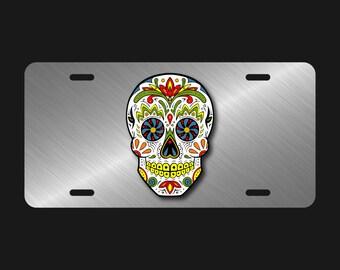 Skull License Plate Etsy
