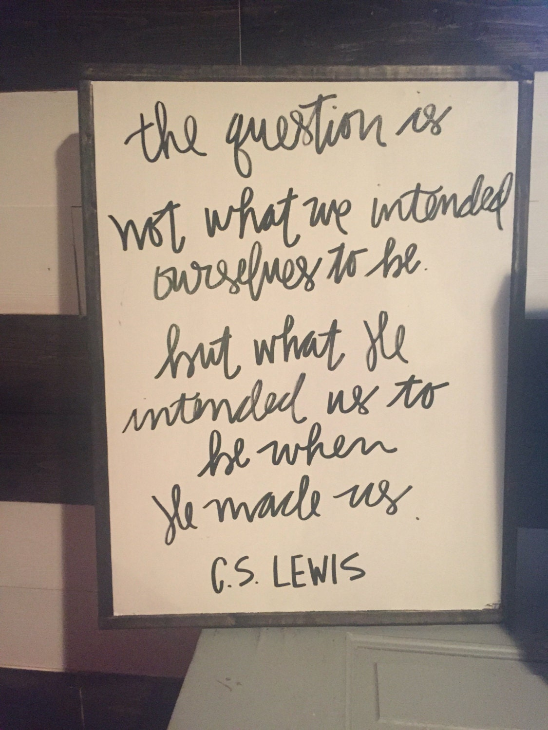 Cs lewis quotes cs lewis signs home decor wood decor for Home decor quotes signs