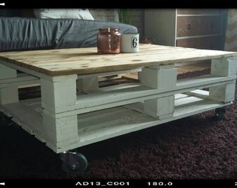 Pallet Coffee Table - Industrial Style, Rustic, Shabby Chic, Farmhouse, Reclaimed Wood, Upcycled Wood