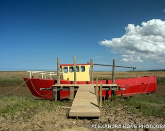 Red and Yellow boat - large photo print