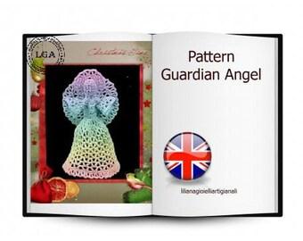 Guardian Angel, Crochet pattern instruction, Christmas decoration
