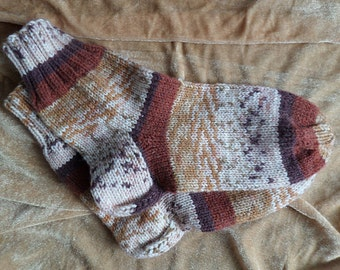 knitted warm socks for men or women,handmade,size 40-42