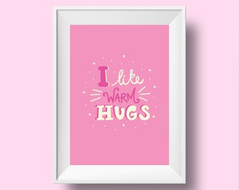 Disney Frozen Lettering Print/I Like Warm Hugs