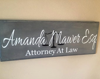 Lawyer Gift, Attorney Gift,Custom Business Sign, Office Sign, Business Sign, Business, Scales Of Justice