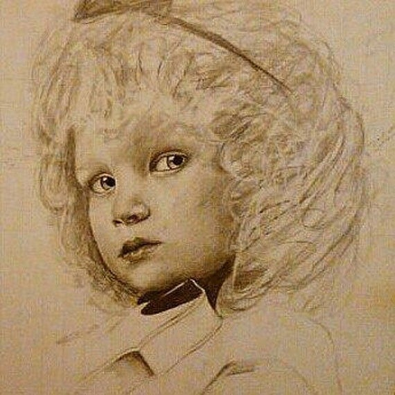 Custom graphite portrait drawing from your photo.. Drawn by an Award-Winning Artist! Free shipping.