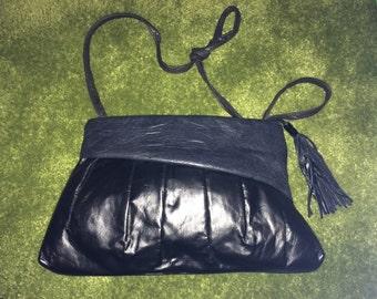 Women's Purse/Vintage black shoulder/clutch purse Back to school*