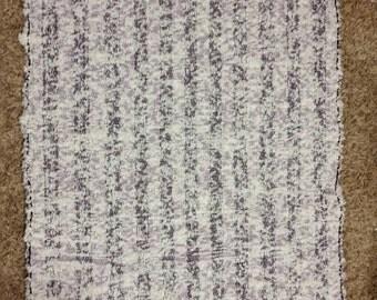 Light purple chenille rag rug