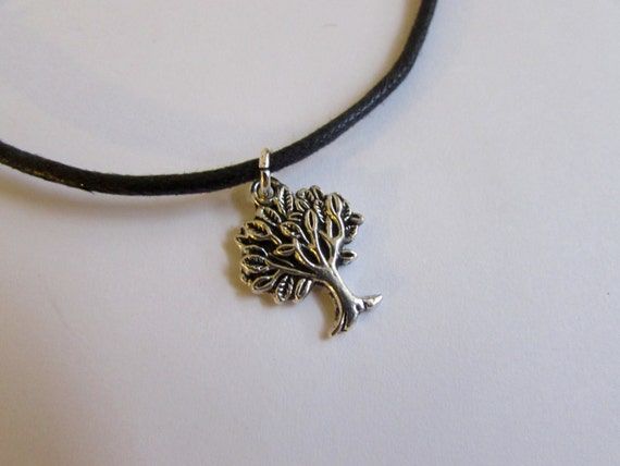 Tree of Life Charm On Wax Cord Adjustable Unisex Free UK Shipping + Gift Bag CH5