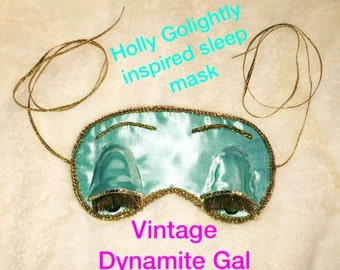 Breakfast At Tiffany's sleep mask it is Inspired by Holly Golightly its is handcrafted