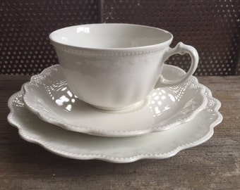 1920's W. H. Grindley and Co White Teacup and Saucer