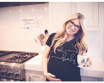 Oh Baby Maternity Shirt, Maternity Shirts, maternity shirt, maternity, maternity top, pregnancy top, pregnancy shirt, pregnancy gift