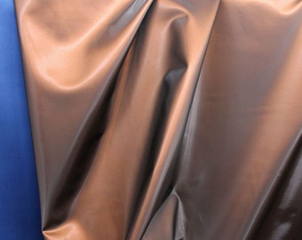 Fabric patent leather bronze polished flexible upholstery 50.000 Martindale