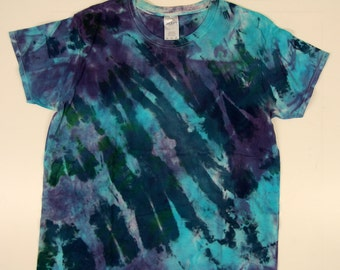 Hand Dyed T-Shirt, blue/teal
