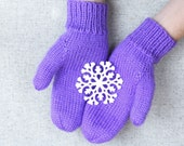 Classic Knit Mittens in A...