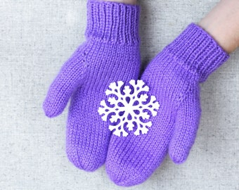 Classic Knit Mittens in All Sizes