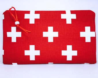 Waterproof First Aid Bag, Large Red Cross First Aid Pouch, Easily Identifiable First Aid Bag, Zipper First Aid Pouch
