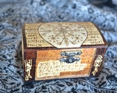 Icelandic Protective Magical Stave Box - Asatru - Pagan - Alter Piece - Jewelry Box - Ritual - Runes - Vikings - Magic - Witchcraft - Spell
