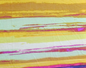 2.25 yds--Striped multi colored polester knit fabric