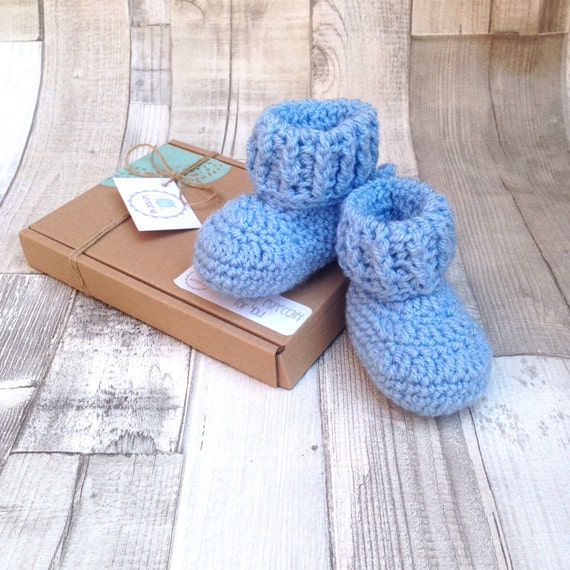 Blue  booties unisex booties charcoal boots baby blue