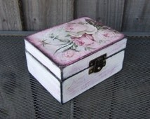 trinket box, box with roses