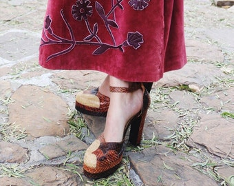 70s chunky heels