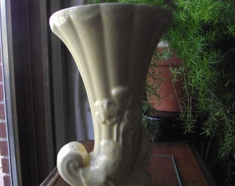 Vintage Yellow Vase Pottery Large