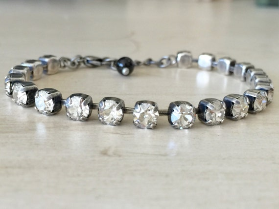 Stackables Crystal Silver Shade Bracelet, in Antique Silver