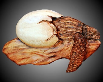 Hatching Baby Sea Turtle Wall Sculpture