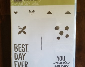 "New, Retired, Stampin' Up ""Best Day Ever"" Stamp Set"